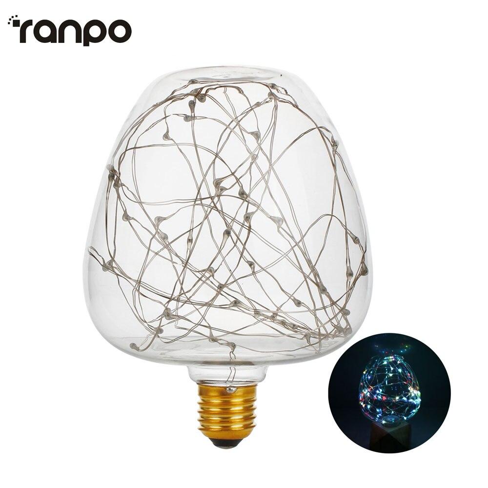 E27 Led bulb Apple rgb led lamp 2w globe Firework light bulb AC 220V-240V led string light lampada for home decor & gift lamps