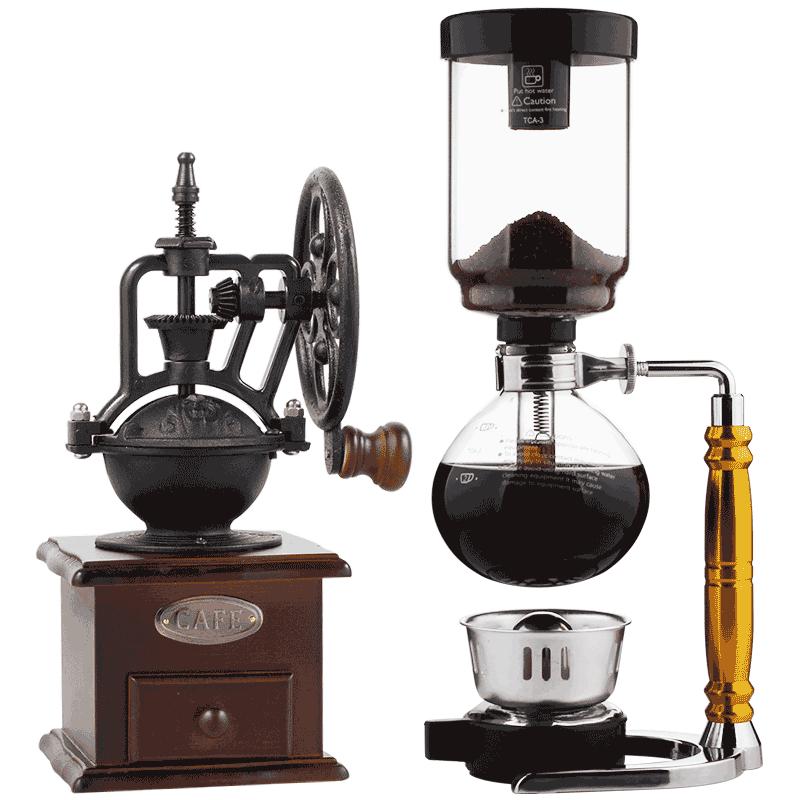 A manual coffee maker Coffee pot Household glass siphon pot SiphonCoffee set christie a black coffee