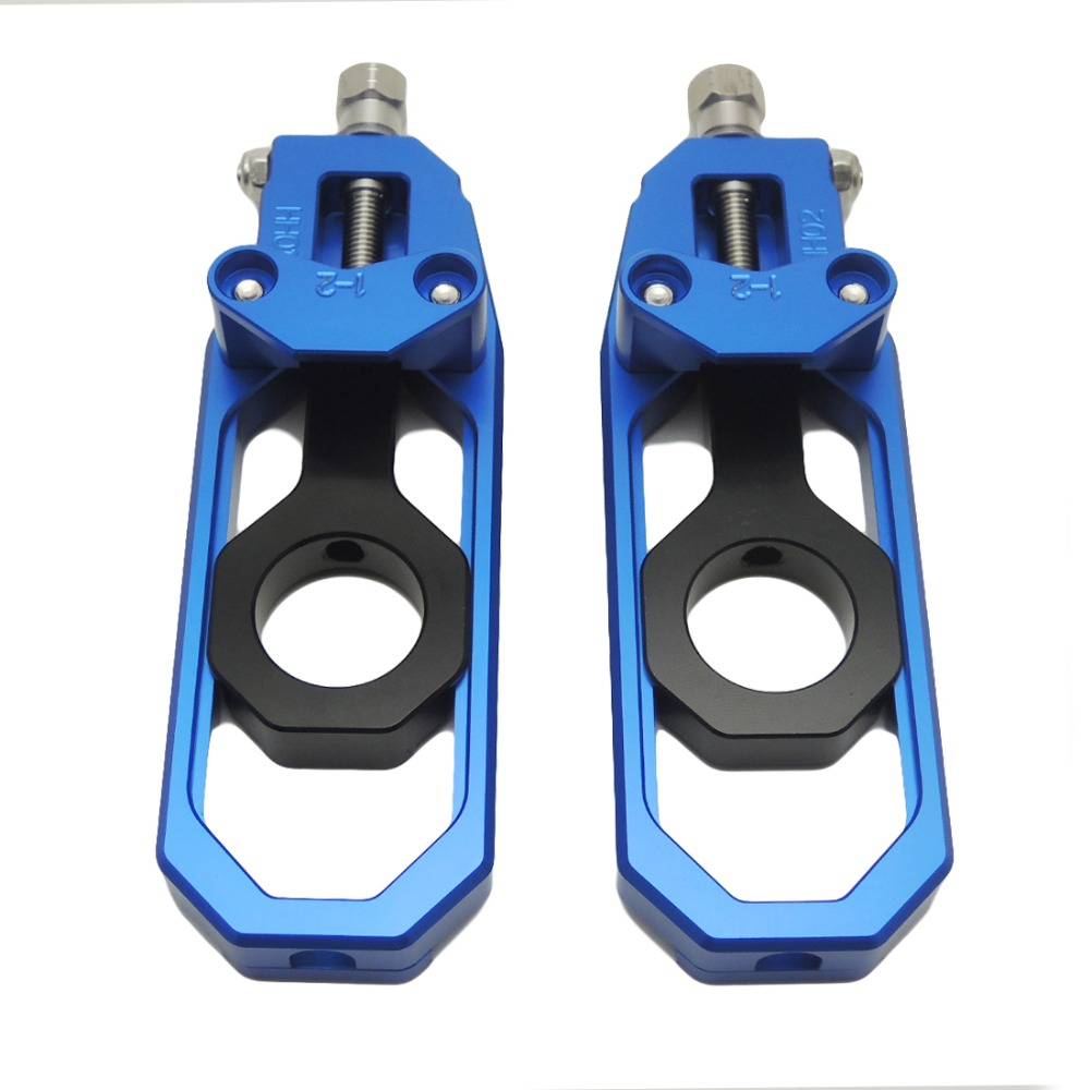 ФОТО For yamaha YZF motorcycle parts Chain Adjusters Tensioners CNC Aluminum For Yamaha YZF R1 YZF-R1 2007 2008 2009 2010After market