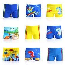Short de natação para bebês e crianças, short de natação com estampa de dinossauro para meninos e crianças pequenas, roupa de banho de desenho animado