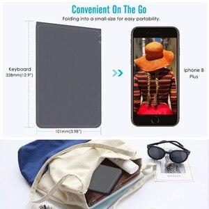 Image 3 - MoKo אלחוטי Bluetooth מקלדת, דק מתקפל נטענת מקלדת עבור iPhone,iPad 9.7, iPad פרו, אש HD 10, עבור כל iOS