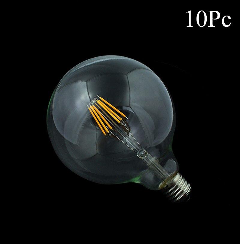 10x Edison Led Filament Bulb G125 G95 G80 Big Global light bulb 4W 6W 8W filament bulb E27 glass indoor lamp AC220V Dimmable e27 led filament edison bulb indoor led clear glass bulb t45 st58 st64 a19 g80 g95 g125 2w 4w 6w 8w bombillas led ac110 220v