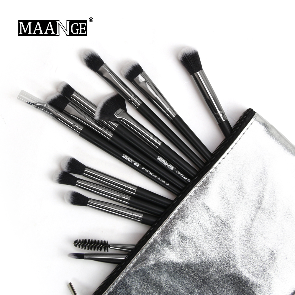 Image 2 - MAANGE 1Pcs Makeup Brushes Case Empty Portable Holder Organizer Pouch Pocket Cosmetic Brush Beauty Bag Makeup Tools Brush Holder-in Eye Shadow Applicator from Beauty & Health