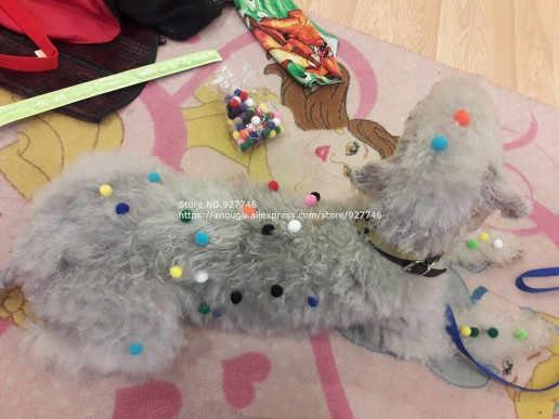 Paquete de 300 piezas 1cm pequeña bola colorida niños niñas juguetes jardín de infantes materiales hechos a mano para niños Material creativo BS94