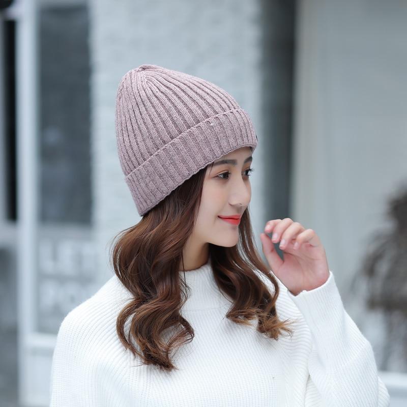 fbf07f4aa4a Aliexpress.com   Buy Winter Hat Knitted Mens Hats Winter Cap 2017 Women  Casual Solid Thick Warm Plus Velvet Beanie Cap skullies beanies for men  women from ...