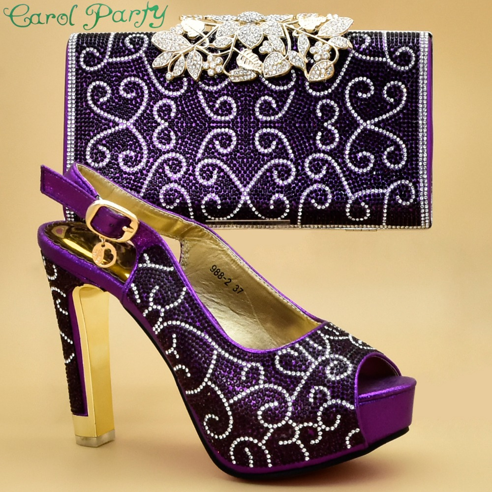 Assorties Zs gold Chaussures Partie Black wine Ensemble Sac Blue Gold Pour 06 Et Mis La New Africaine Nigérian purple Talons En royal E6xq5Tw
