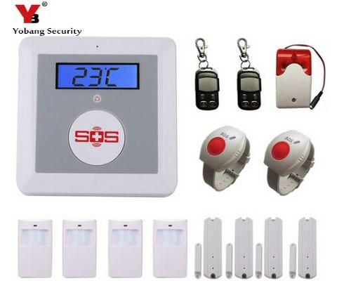 YobangSecurity sans fil GSM SMS Senior système d'alarme de sécurité à domicile avec appel SOS pour le contrôle des téléphones mobiles de soins aux personnes âgées