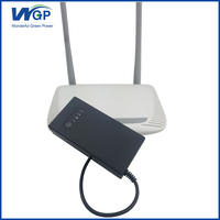 9V 1A rechargeable 18650 lithium battery ups mini uninterrupted power supply 9V router ups