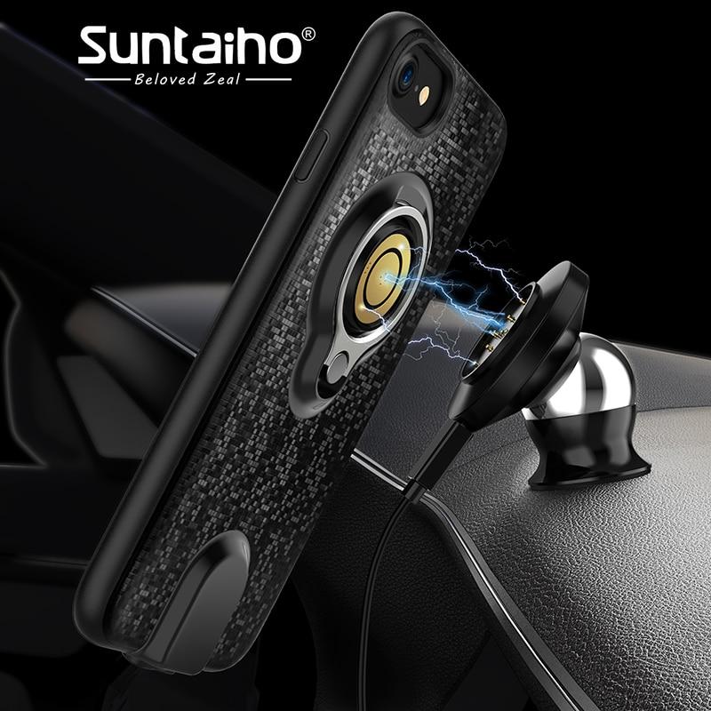 Suntaiho Sans Fil Chargeur De Voiture Pour IPhone 6 6 s Plus Rapide Chager Ultra Mince Magnétique Chargeur Pour IPhone 7 7 Plus Rapide chargeur