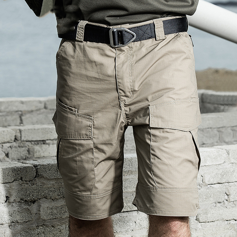Summer Tactical Cargo Shorts Men Military Combat Army Paintball Waterproof Short Pants Casual Multi-Pocket Knee Length Shorts