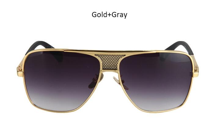 f5eca33fed0c02 HapiGOO Men Vintage Oversized Sunglasses 2016 New Fashion Man Brand  Designer Big Metal Frame Square Sunglasses for Women Eyewear-in Men's  Sunglasses from ...