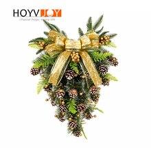 HOYVJOY Mini Christmas Tree Artificial Upside Down Xams Inverted tree-shaped Decorations Hanging Ornaments Layout 60cm