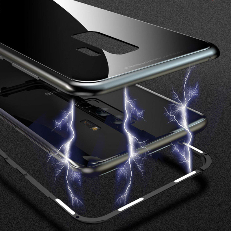 Image 2 - Suntaiho Magnetic Adsorption Case For Samsung S8 S9 Plus Note 8 S7 Edge Tempered Glass Cover For iPhone X 7 8 Huawei P20 Oneplus-in Fitted Cases from Cellphones & Telecommunications