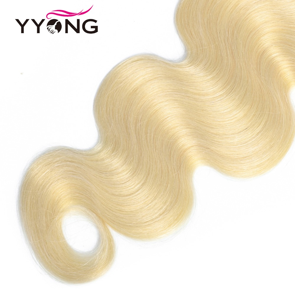 Yyong 613 Bundles With Closure  Body Wave  Blonde Bundles With Closure Lace Closure With Bundles 4Pc/Lot  6
