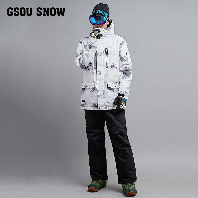 GSOUSNOW nouveau costume de ski costume blanc homme