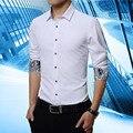 1 pcs Marca dos homens da listra camisas Tops plus size 2017 Nova Moda listra mangas Compridas slim fit camisa De Vestido Dos Homens Casuais retro blusas