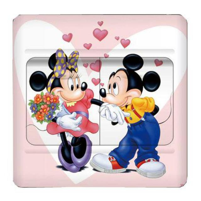 Minnie and Mickey Mouse Switch Sticker (3 pcs)