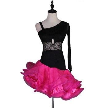 Latin Dance Dress Ladies Costume Lace Latin Dance Competition Skirt Professional Costume