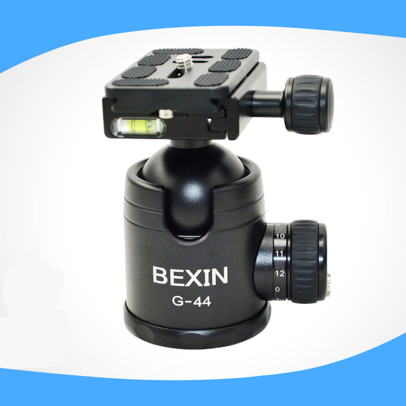 DSLR Camera tripod Ball head Aluminum Quick release plate 44mm super large ball for big camera / Panoramic photos купить
