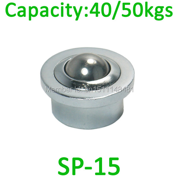 Free shipping 10pcs SP 15 40kg 50kgs load capacity Heavy Ball transfer unit SP15 machined ball