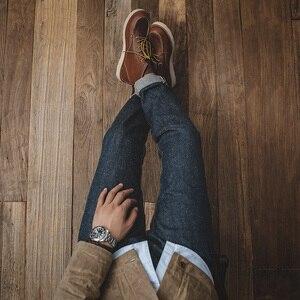Image 3 - مادن جينز رجالي ضيق مستقيم الساق Selvedge أزرق داكن