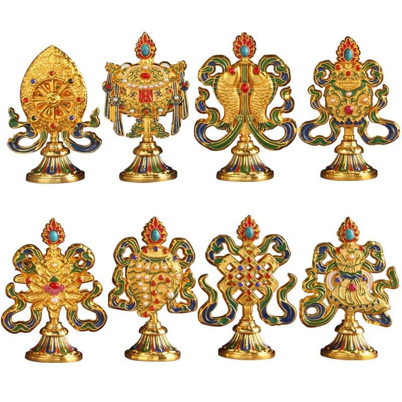 특별 제공 티베트 불교 용품 여덟 길조 기호 가구 기사 달마 선박 사원 장식품-에서피규어 & 미니어처부터 홈 & 가든 의  그룹 1