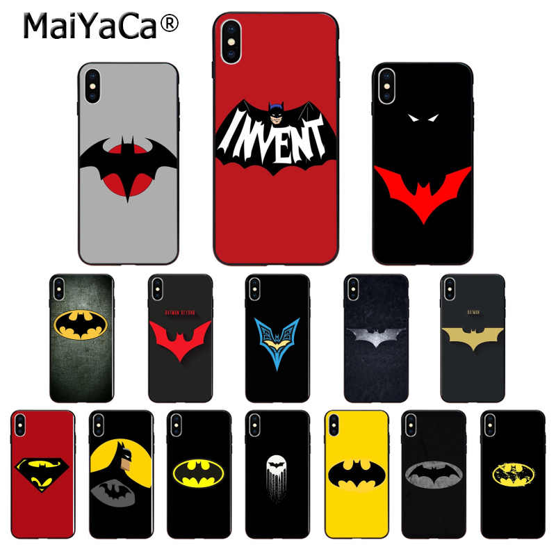 MaiYaCa DC Superhero Batman logo High Quality Phone Case for iPhone 5 5Sx 6 7 7plus 8 8Plus X XS MAX XR