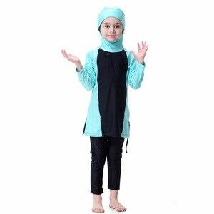 Image 3 - YONGSEN Islamic Muslim Swimwear 2020 Girl Hijab Maillot de bain Burkinis Modest Plus Size Brand Swimsuit Long Sleeve Bathing
