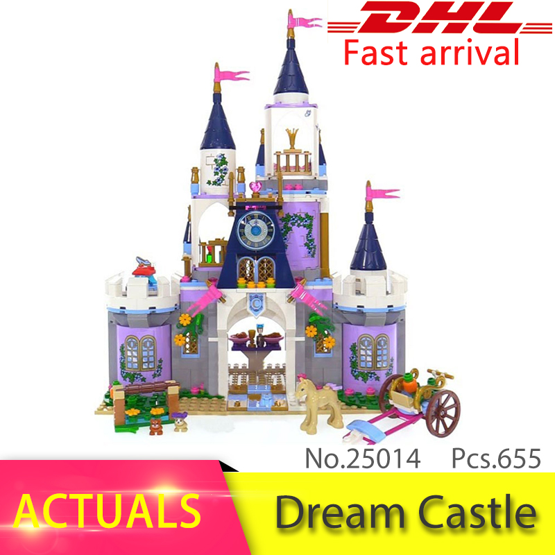 Lepin 25014 655Pcs Princess Series The 41154 Dream Castle Set building Blocks Bricks Educational Toys For Kids brithday Gifts lepin 16017 castle series genuine the king s castle siege set children building blocks bricks educational toys model gifts