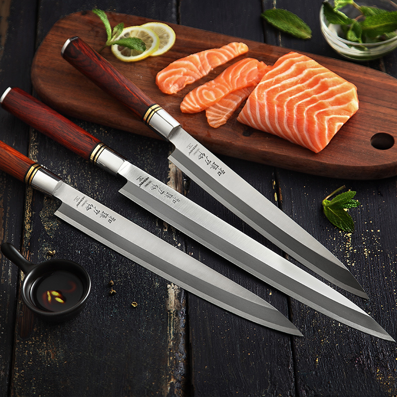 HEZHEN 240~300mm Japanese X5Cr15MoV Steel Sashimi Knife Sharp Filleting Fish Sushi Cleaver Salmon Slicing Peeling Kitchen KnivesHEZHEN 240~300mm Japanese X5Cr15MoV Steel Sashimi Knife Sharp Filleting Fish Sushi Cleaver Salmon Slicing Peeling Kitchen Knives