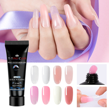 T-TIAO CLUB Acrylic Poly Extension Gel Kit Quick Building Polish Soak Off Clear Pink Nail Tips Builder Brush UV Art