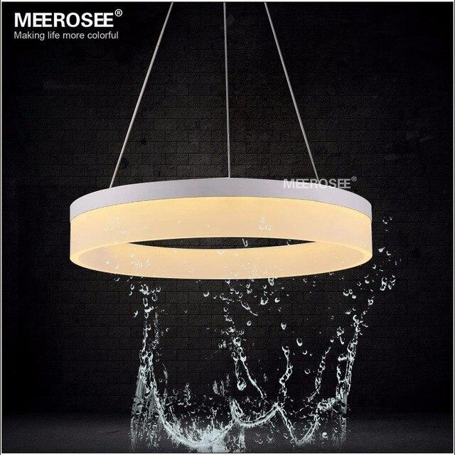Hot Sale Modern Led Pendant Lights For Bedroom Lamparas Colgantes Hanging Lamp Acrylic Ring Indoor Lighting