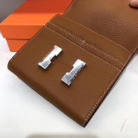 Kafunila genuine leather short wallet fashion famous brand designer card holder female purse coin pocket money bag mini clutch