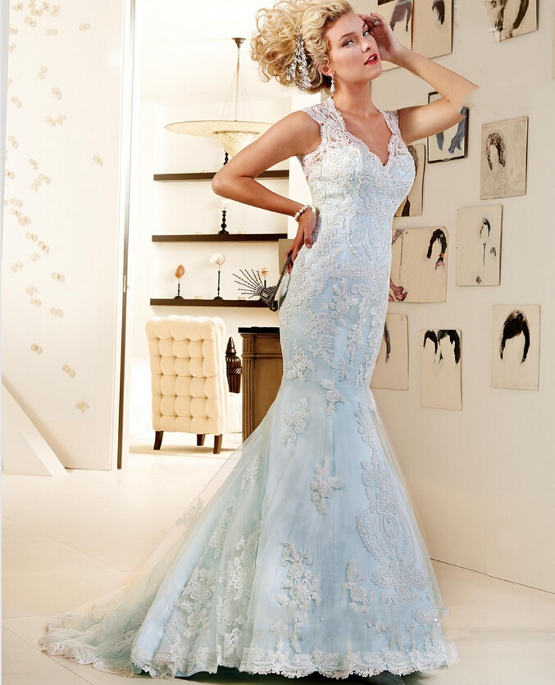 coloured wedding dresses from our favourite bridal designers pale blue wedding dress Design by a href http www ianstuart bride