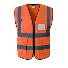 Orange Reflective Safety Clothing Reflective Vest Workplace Road Working Motorcycle Cycling Sports Outdoor Print LOGO #002