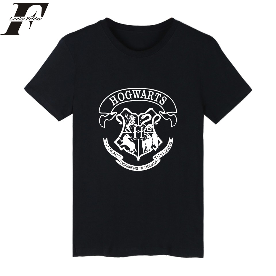 2017 harajuku Hogwarts fitness T shirt Summer funny T shirts men Women Hip Hop tumblr Clothe Tee Shirt femme shirts bodybuilding