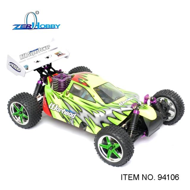 JUGUETES HOBBY HSP RC CAR RACING 1/10 NITRO BUGGY 4WD OFF ROAD de CONTROL REMOTO AVANZADO RTR R/C de COCHES MOTOR 18CXP (N ° de art. 94106)