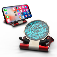 R JUST Iron Wireless Charger for iphone X 8 8Plus Desktop Mobile Phone holder Support fast charger for Samsung Note 9 S9 S8 S7