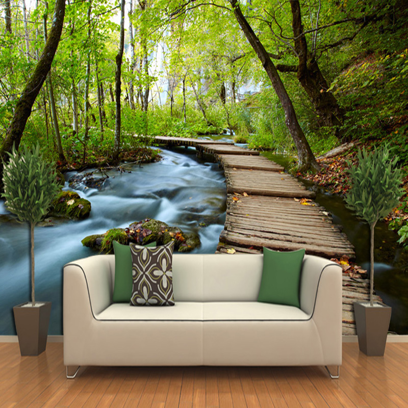 Papel pintado tridimensional 3d paisaje papel tapiz - Papel pintado para pared ...