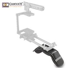 CAMVATE kamera evrensel omuz yastığı rahat bellek köpük ve 1/4 3/8 iplik deliği DSLR kamera omuz Rig/kamera