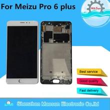 """M & Sen Para 5.7 """"Meizu pro 6 plus pantalla LCD + el panel de Tacto Digitalizador con marco blanco/negro Envío gratis"""