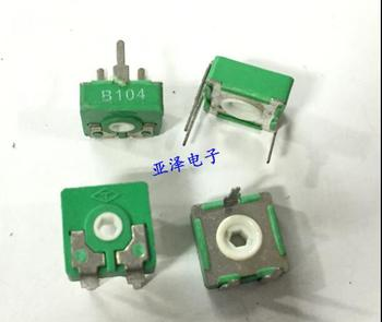 [VK] T square Spain potentiometer PT10-B100K B104 adjustable horizontal hexagonal hole adjustable resistance switch