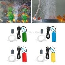 Portable Mini USB Aquarium Fish Tank Oxygen Air Pump Mute Energy Save Compressor Dropship