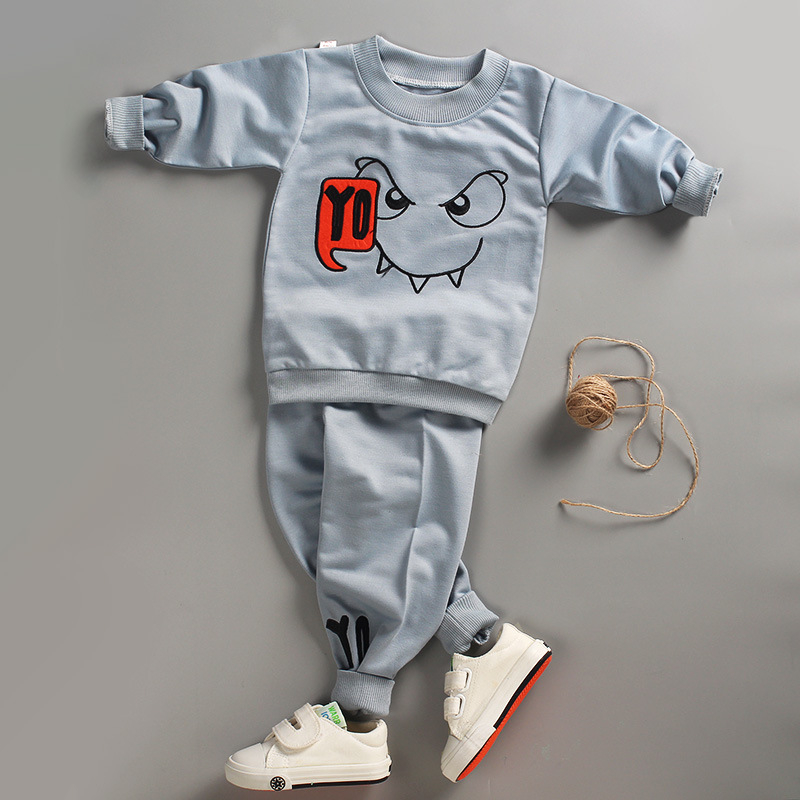 Unini-yun Spring 2PC Toddler Baby Boys Clothes Outfit Boy Kids Shirt Tops+pants Casual Clothing children For 12 Months-6Years