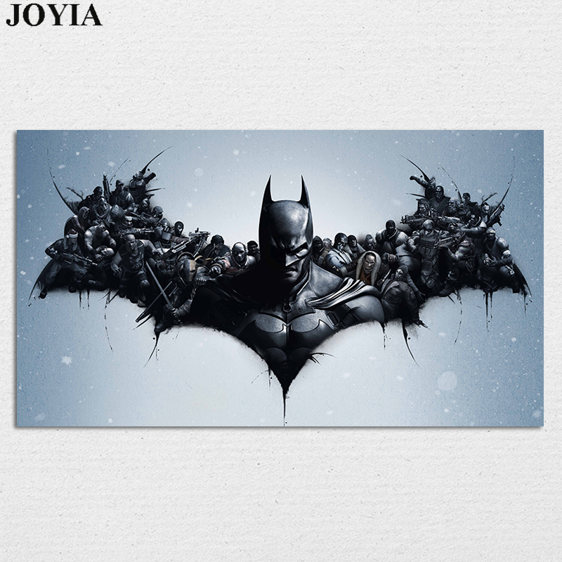 Batman Arkham Origins Poster, Heroes Gaming Poster, Black Art Prints Video Games Wall Art Picture, Home Decor On Wall Large Size