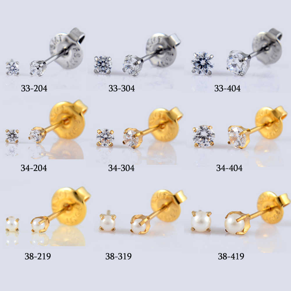 Showlove-1 pieza de dispositivo esterilizado de seguridad desechable para Piercing en la nariz + bisel estéril de perlas de cristal Piercing en la oreja unidad