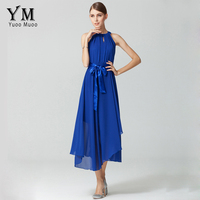 6 Colors Womens Summer Dress Fashion European Shoulder Off Long Casual Chiffon Dress Female Elegant Maxi