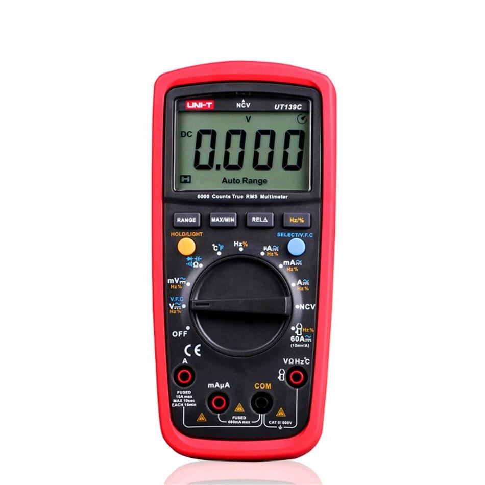 Digital Multimeters UNI-T UT139A UT139B UT139C True RMS Electrical Handheld Testers Multimetro LCR Meters Ammeter Multitester uni t ut139c true rms digital multimeter handheld electrical lcr voltage current meter tester multimetro ammeter multitester