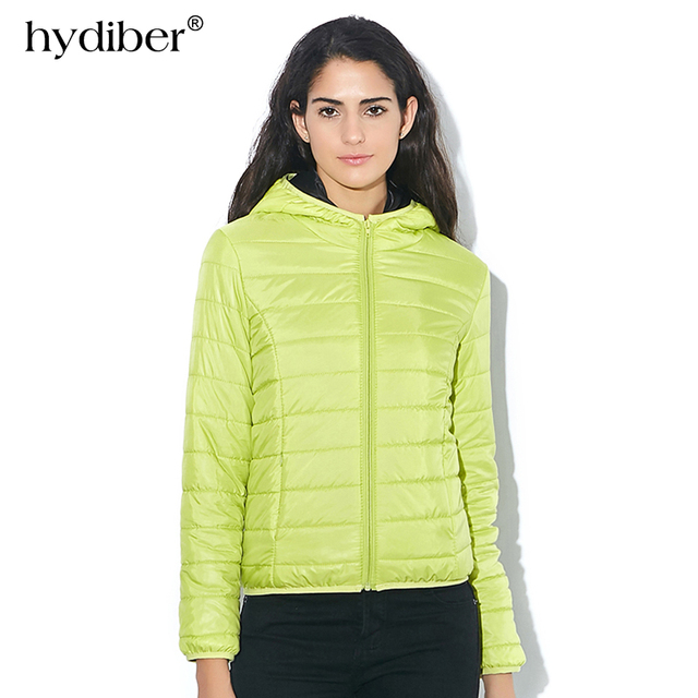 HYDIBER 2017 New Brand Fashion Hooded Parkas Winter Female Jacket Women Clothing Winter Coat Black Overcoat Women Jacket 538TN