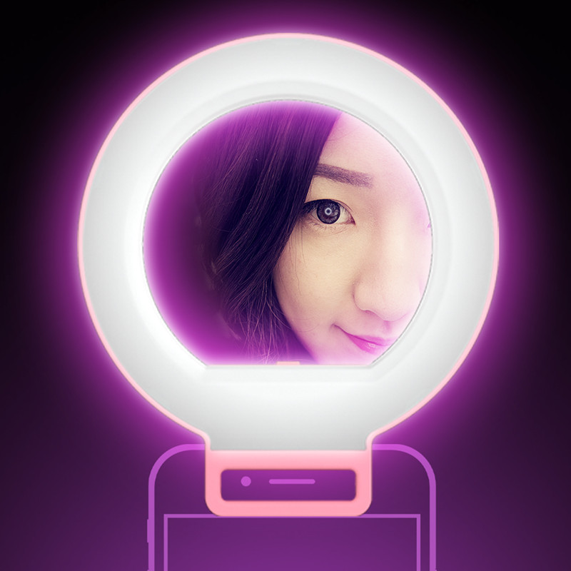 With LED Fill light Phone Lens Camera Self timer Beauty Artifact Mobile Phone Lens For iphone 7 7 plus 6 6s plus Samsung S7 S6